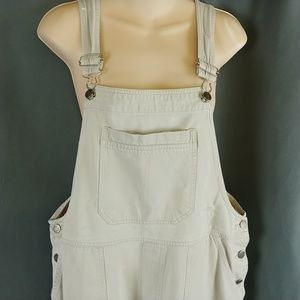 Cherokee Tan Khaki Painted Overall Cropped L